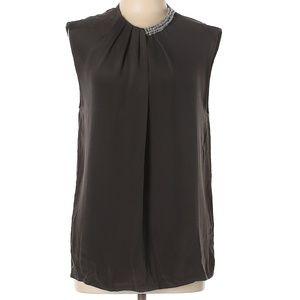 3.1 Phillip Lim Short Sleeve Silk Blouse Top